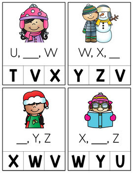 Winter Letter Sequencing