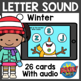 Winter Letter Sound Boom Cards with Audio | Winter Boom Ca