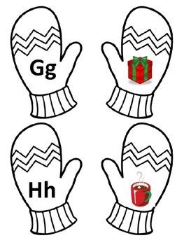 Winter Letter Sound Match-Up