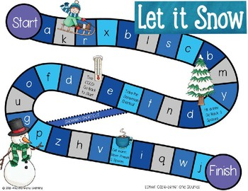 Winter Letter & Sound Recognition Game