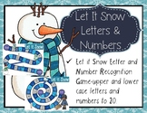 Winter Letter & Sound Recognition Game & Numbers 0-20