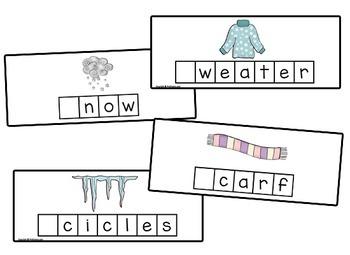 Winter Letter Tile Cards