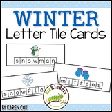 Winter Letter Tile Cards