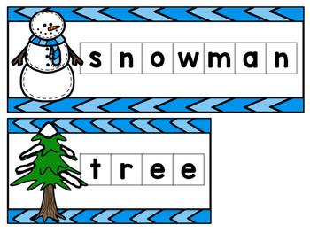 Winter Letter Tile Mats