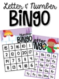 Winter Letter and Number Bingo