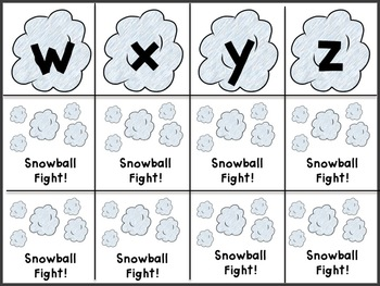 Winter Letter and Sound Learning Game