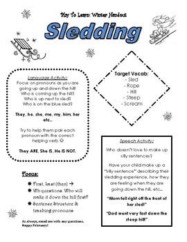 Winter handout to Parents