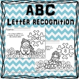 Winter Letter recognition - bingo dab activity