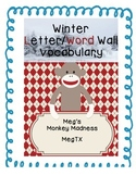 Winter Letter/Word Wall with real pictures