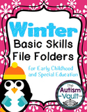 Winter Letters and Numbers File Folders