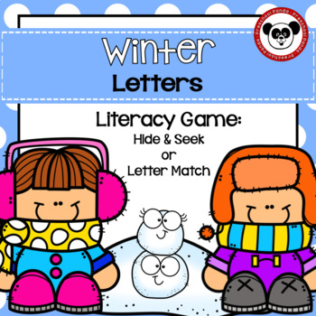 Winter Letters for Preschool, TK, and Kinder