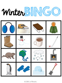 Winter Leveled Bingo Game for Special Education and Autism
