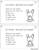 Winter! Leveled Quick Read Cards and Response Activities