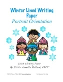 Winter Writing Paper: Regular Lined (Portrait Orientation)