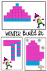 Winter Linking Cube Math Mat Pictures