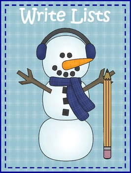 Winter List Writing & Picture Prompts