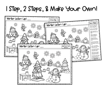 winter listen up following directions freebie by panda speech. Black Bedroom Furniture Sets. Home Design Ideas