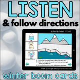 Winter Listen and Follow Directions with AUDIO |  Boom Cards™