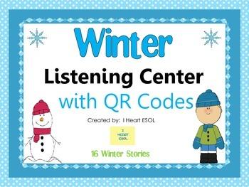 Winter Listening Center with QR Codes {16 Winter Stories}