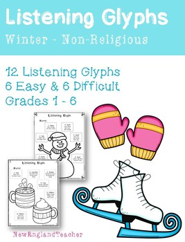 Winter Listening Glyphs for Elementary Music Classroom
