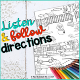 Winter Listening and Following Directions Language Activity