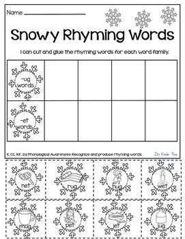 Winter Literacy Activities - No Prep - Just Print