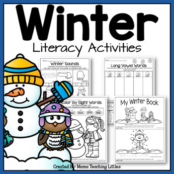 Winter Literacy Activities - Print and Go, No Prep