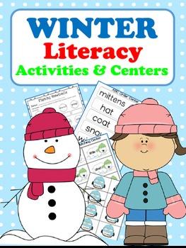 Winter Literacy Activities & Centers (11 Writing Activities & 5 Centers)
