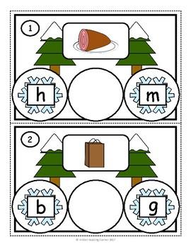 Winter Literacy Activities- Kindergarten Literacy Centers- January/February
