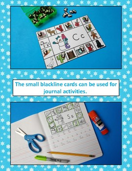 Winter Literacy Activities Snow Friends Beginning Consonant Sounds