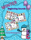 Winter Literacy Activities Snow Friends Beginning Consonan