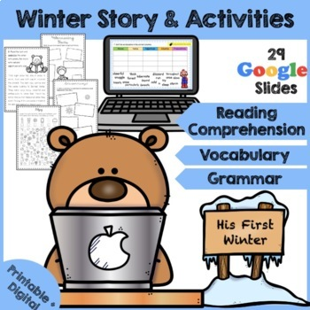 Winter Reading Comprehension - A Bear's first Winter 2019 Activity Pack