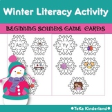 Winter Literacy Activity Beginning Sounds Games for Pre-K & Kindergarten Pack 2