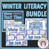 Winter Literacy Bundle  Close Reading Fluency and ELA Review