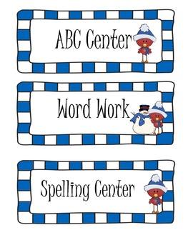 Winter Literacy Center Activities