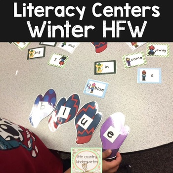 Winter Literacy Center: Building Sight Words with Mittens