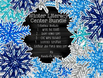 Winter Literacy Center Bundle