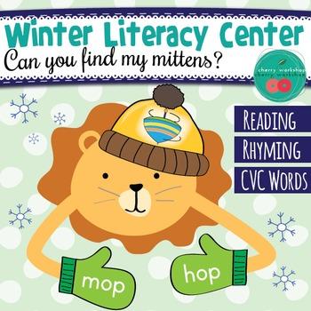 Winter Literacy Center for Rhyming