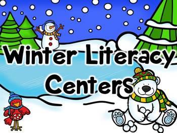 Winter Literacy Center- Freebie