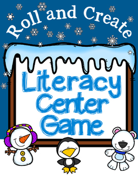 Winter Literacy Center Game-Within Word Patterns and Lette