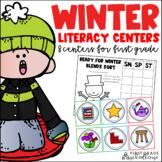 Winter Literacy Centers First Grade