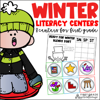 Winter Literacy Centers First Grade