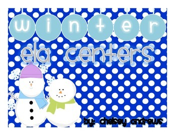 Winter Literacy Centers {2nd Grade Common Core Aligned}