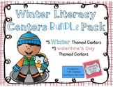Winter Literacy Centers Bundle Pack