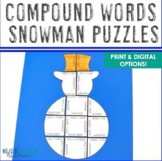 Winter Literacy Centers: Compound Words Puzzles | January