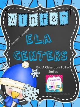Winter Literacy Centers (ELA Common Core Aligned!)