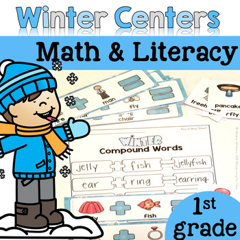 Winter Math & Literacy Centers {1st Grade}
