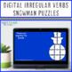 Winter Literacy Centers: Irregular Verbs Snowman Puzzles | Christmas Activities