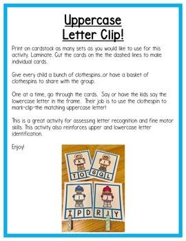 Winter Literacy Centers: Letters for Preschool, PreK, K & Homeschool
