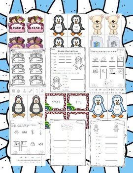 Winter Literacy Centers Mega Pack